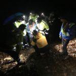 Cumiana, recuperato un cercatore di funghi caduto in un torrente