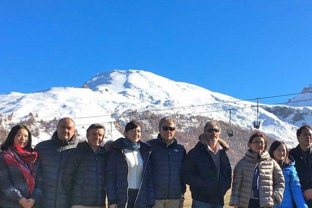 Una delegazione cinese in Alta Valle di Susa per prepararsi ai Giochi di Pechino 2022