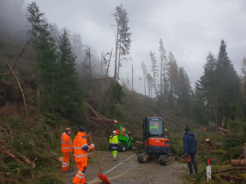 Gli Aib valsusini in soccorso delle popolazioni colpite dall'alluvione in Veneto