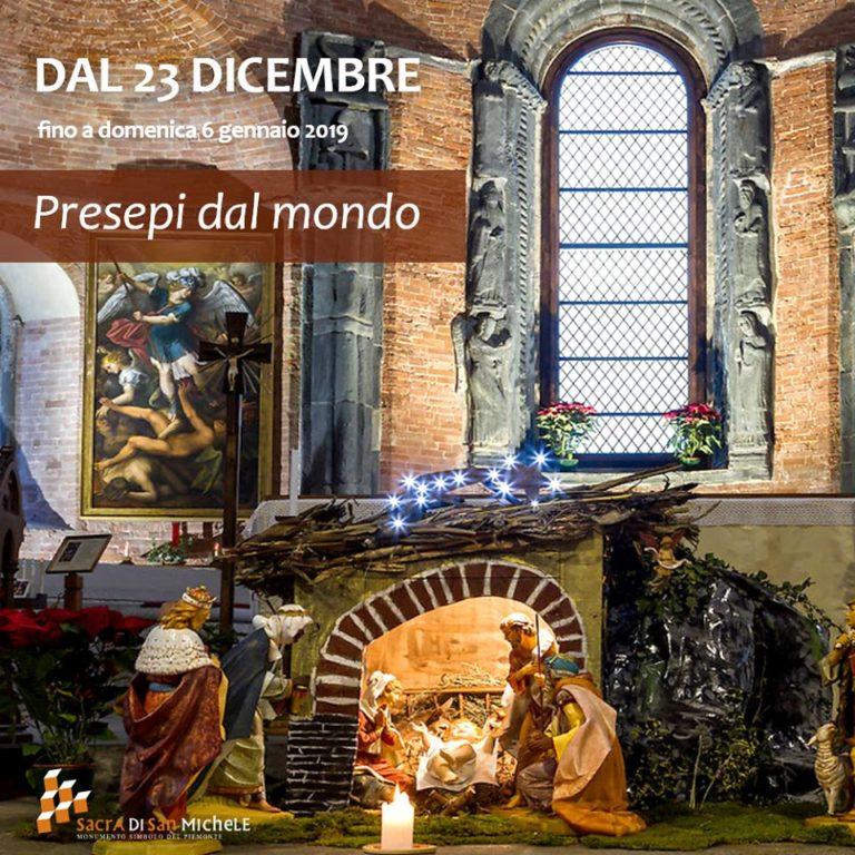 Natale alla Sacra di San Michele fra i presepi di tutto il mondo