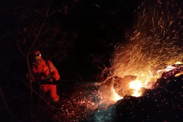 Spento l'incendio sul Monte Musinè