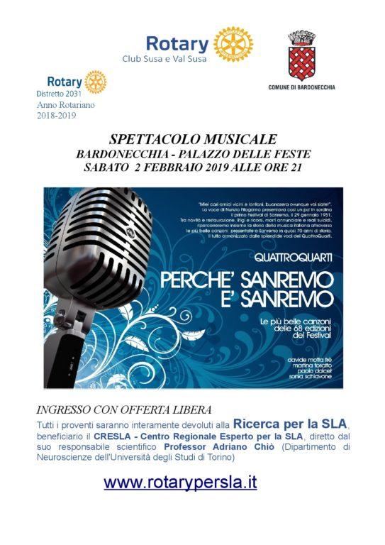 A Bardonecchia il 2 febbraio spettacolo musicale con raccolta fondi per il CRESLA