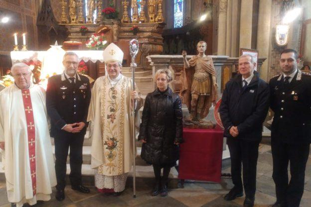 Susa, i Carabinieri riconsegnano al Vescovo una preziosa statua rubata