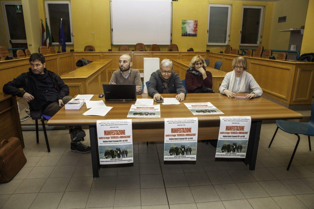 Avigliana, sabato 26 gennaio c'è la marcia contro il Decreto Sicurezza