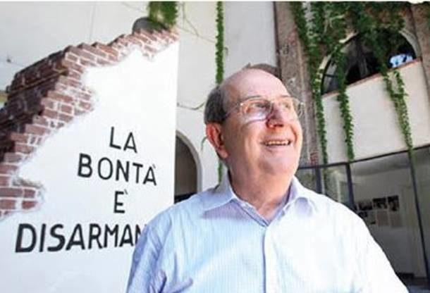 Ernesto Olivero, fondatore del Sermig, a Susa