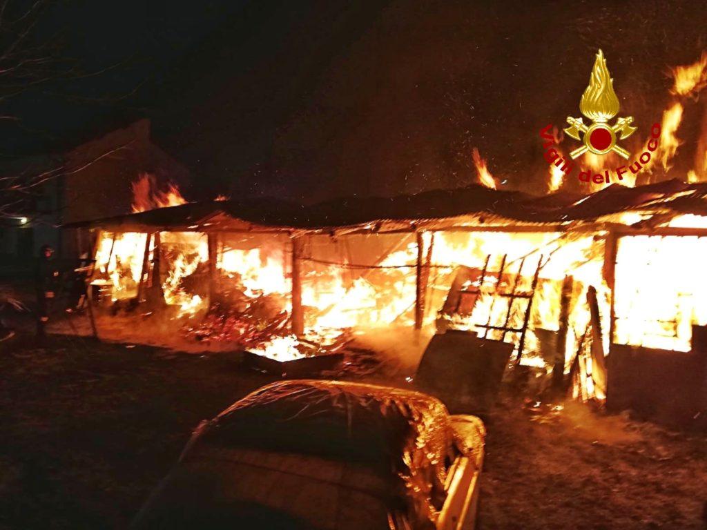 Valsusa, incendio di un magazzino a Sant'Antonino la scorsa notte