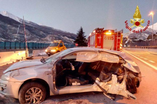 Incidente sulla Torino- Bardonecchia a Mompantero: quattro feriti