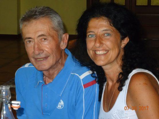 Marco Rossetto Giaccherino con sua figlia Ruth