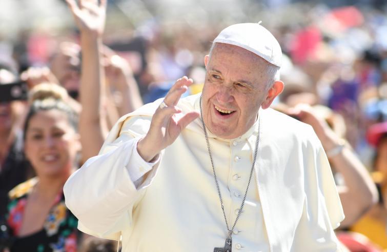Papa Francesco in viaggio verso il Madagascar