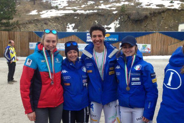 Matteo Franzoso nello slalom e nel parallelo e Sara Allemand nel gigante sono i nuovi campioni italiani Giovani