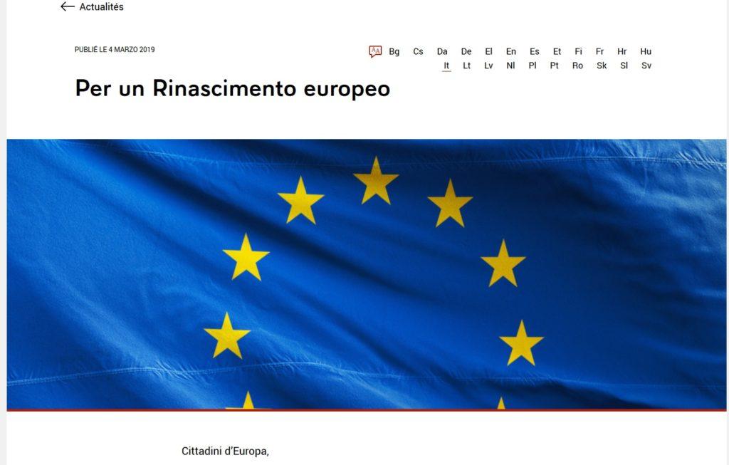 Visioni e divisioni d'Europa