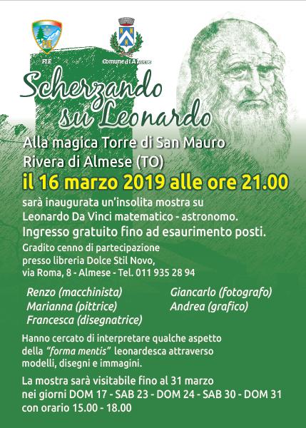 Scherzando su Leonardo, ad Almese una mostra sul genio del Rinascimento