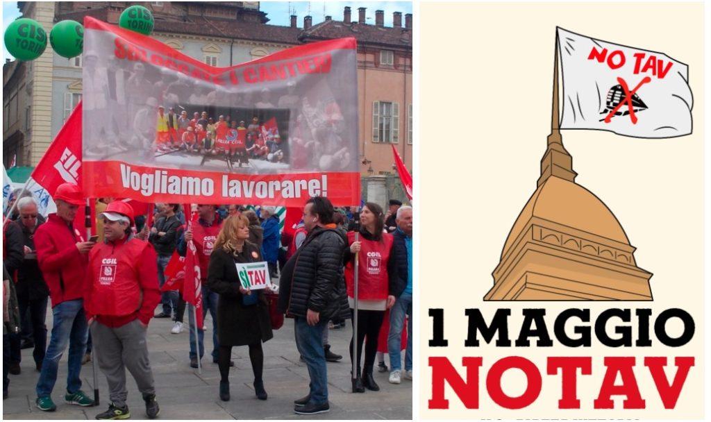 Torino, No Tav e Sì Tav nel corteo del 1° Maggio
