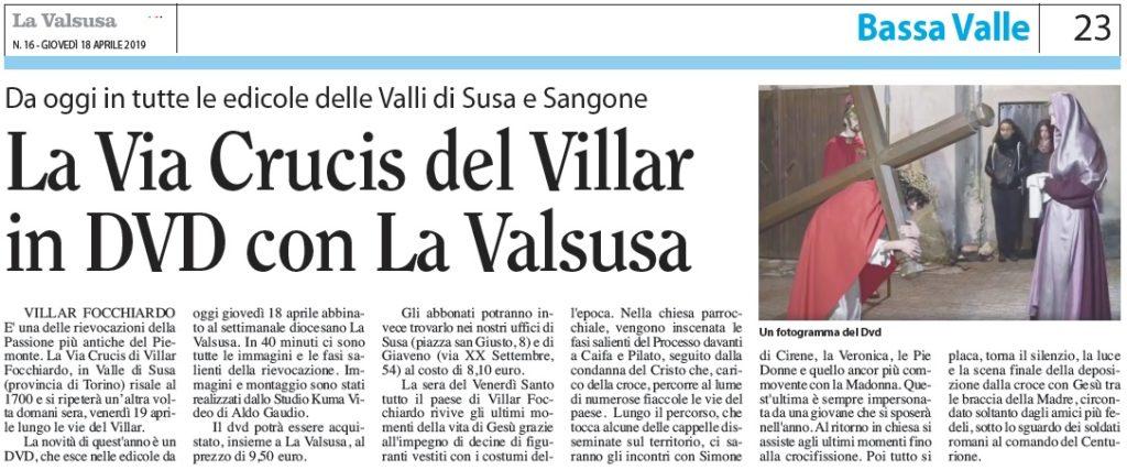 Un DVD con la Via Crucis di Villar Focchiardo da oggi in edicola con La Valsusa