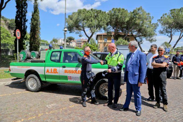 Dalla Valsusa a Roma: gli Aib corrono in soccorso alla capitale