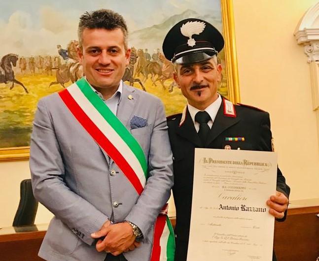 Susa, il vicebrigadiere Antonio Razzano è Cavaliere al merito della Repubblica