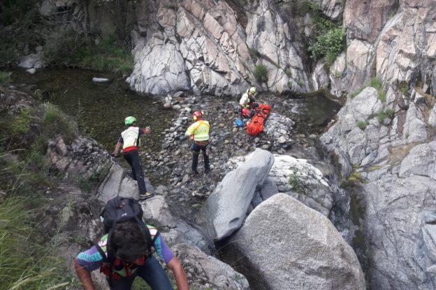 Donna cade nei pressi della Goja del Pis- Foto e video