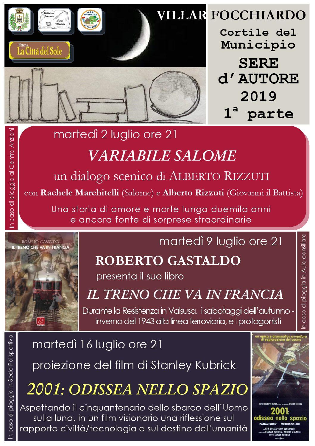 Sere d'autore 2019 a Villar Focchiardo