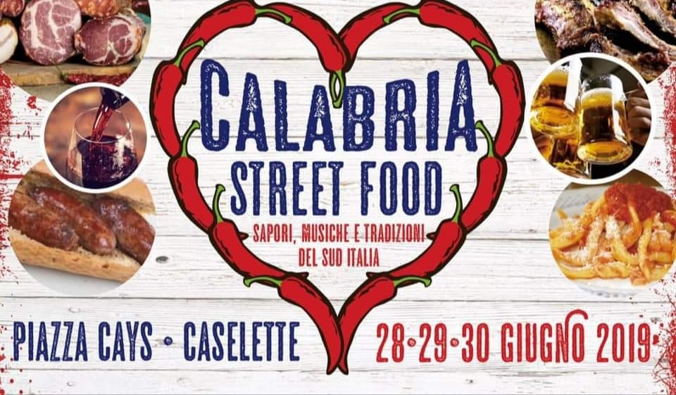 Calabria street food a Caselette fra il 28 e il 30 giugno