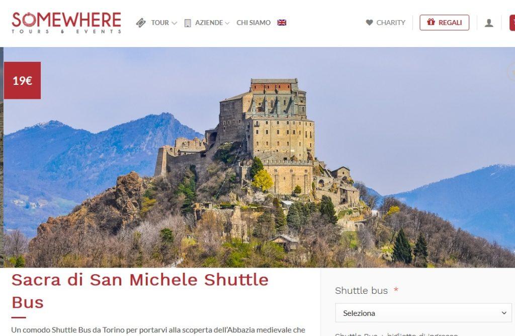 """Da Torino alla Sacra di San Michele con lo """"shuttle bus"""""""