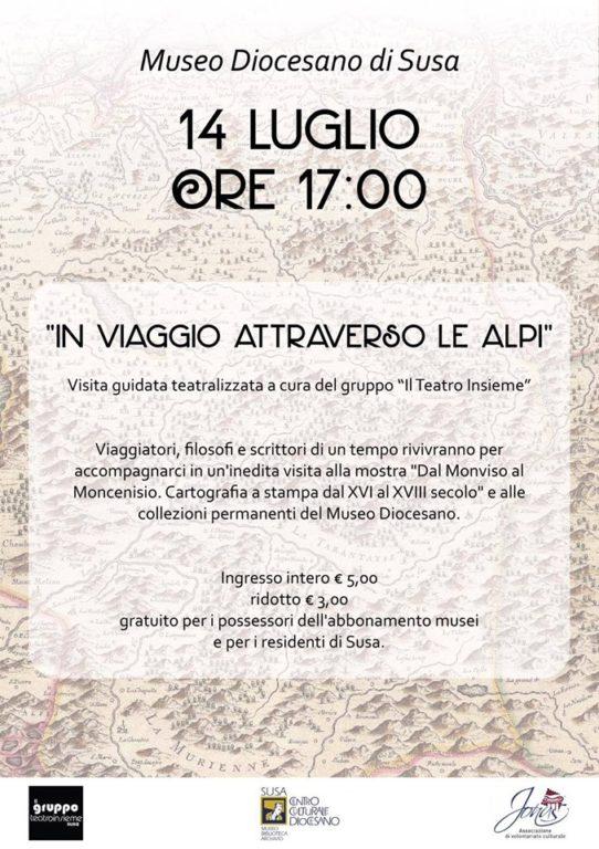 """Visita teatralizzata """"Un viaggio attraverso le Alpi"""" il 14 luglio a Susa"""