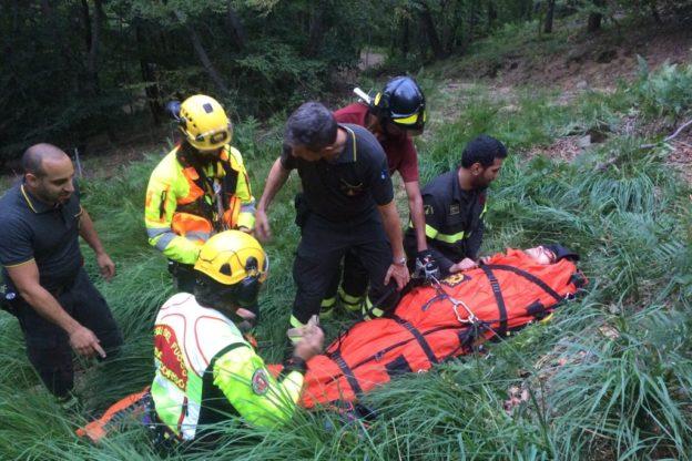 Incidente a Giaveno, uomo cade dal suo quad su una strada sterrata- Foto