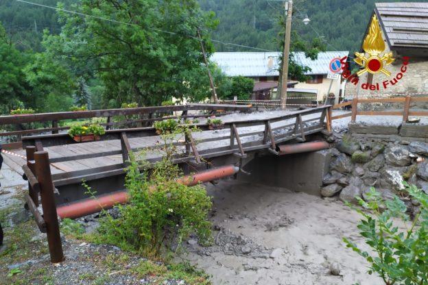 Alta Valle di Susa: i temporali di ieri hanno causato alcuni smottamenti