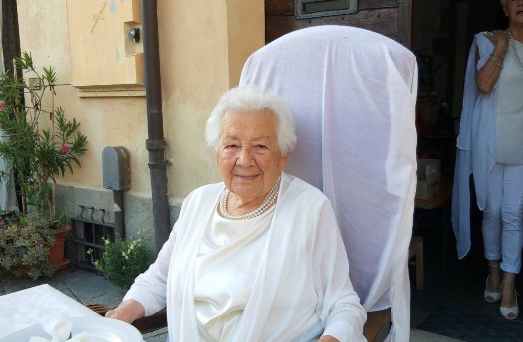 Avigliana, Nonna Emma Allais ha spento 101 candeline