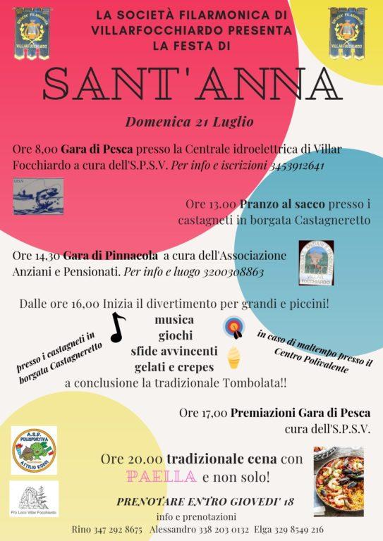 Festa di Sant'Anna a Villar Focchiardo