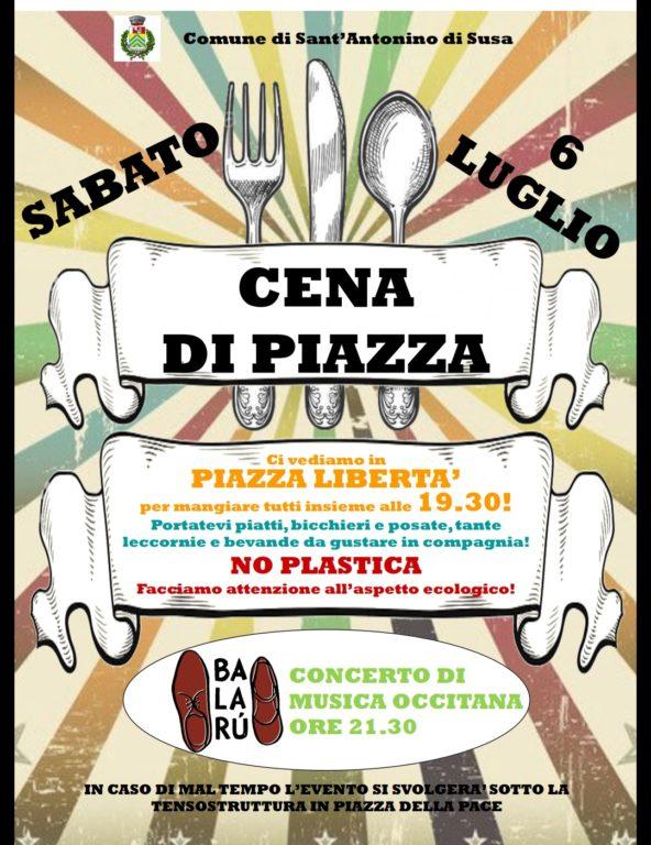 """""""Cena di Piazza"""" a S.Antonino di Susa"""