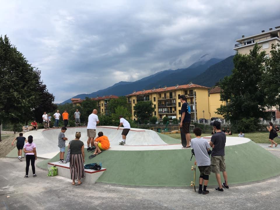 Susa, inaugurato il nuovo skatepark al Parco Pognant