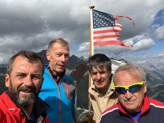 Maurizio Beria, Massimo Franchino, Alessandro Battaglino, Carlo Truccero, al Gran Mioul