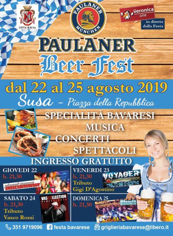 Susa, la Beer Fest-Festa bavarese dal 22 al 25 agosto
