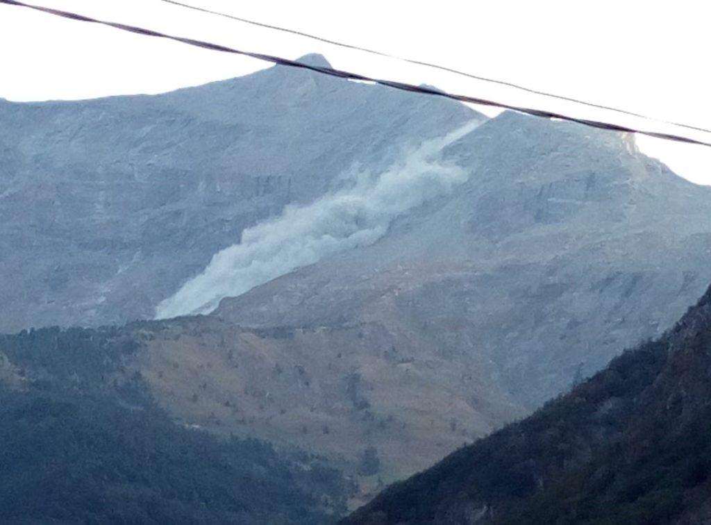 Una grossa frana si è staccata dal Monte Rocciamelone