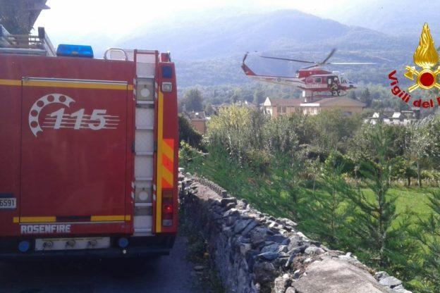 Val di Susa, uomo cade in un canale. Recuperato dai Vigili del Fuoco