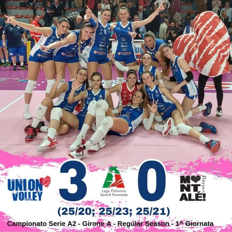 Esordio col botto per l'Union Volley in Serie A2 Femminile di Volley