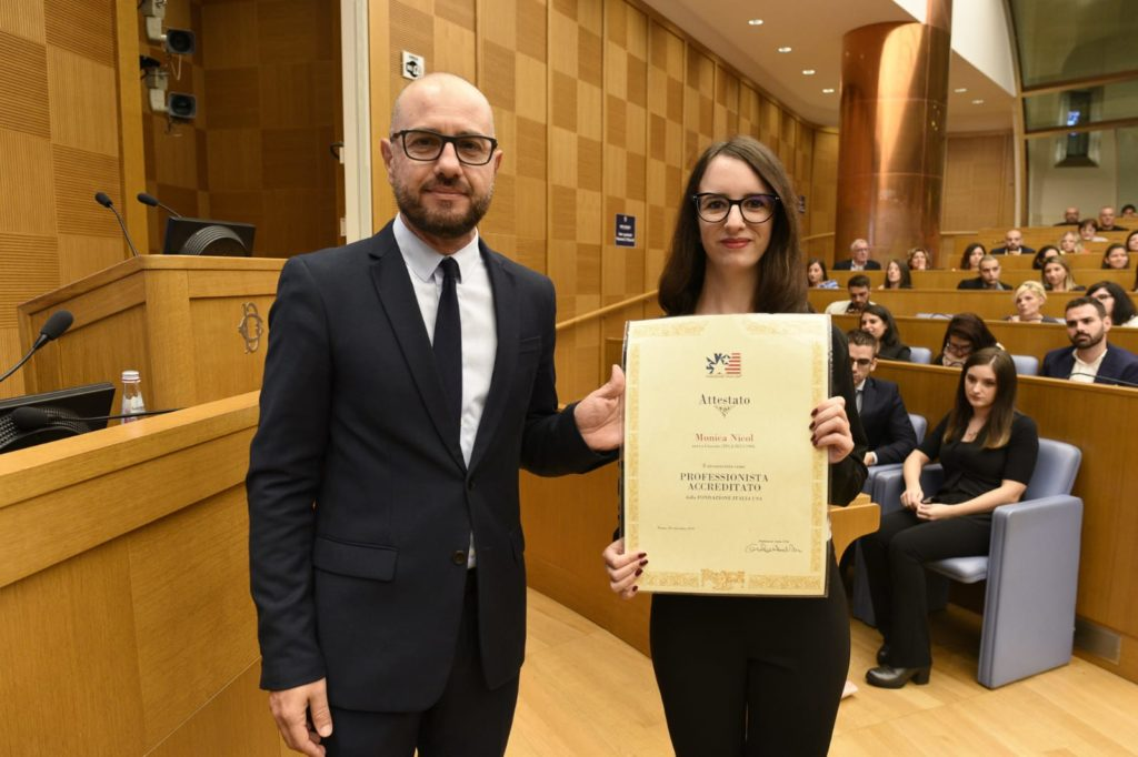 Monica Nicol, una coazzese premiata alla Camera dei Deputati