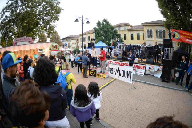 condove - il podio femminile del trail competitivo del Toma Trail con Elisa Aglì, Giusy Balilla e Nora Gilardi