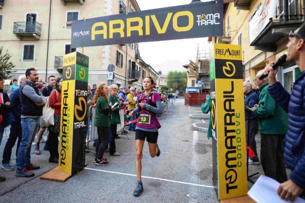 condove - l'arrivo di Elisa Aglì (Toma Trail)