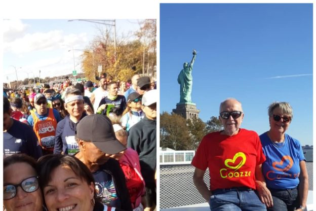 Barbara e Alfio, due valsangonesi alla Maratona di New York