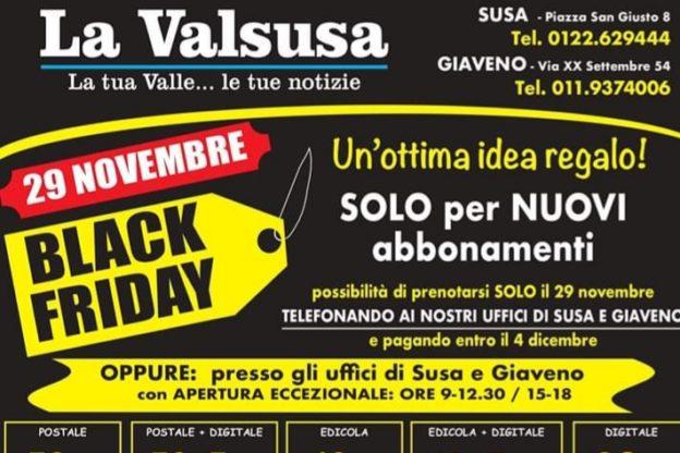 Gli sconti del Black Friday contagiano anche La Valsusa