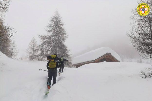 Alta Valsusa: recuperati illesi i due escursionisti bloccati dalla neve