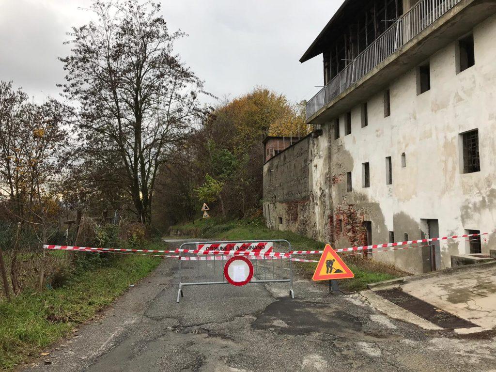 Alpignano, via Almese rimane chiusa