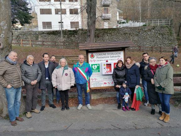 Valgioie, inaugurato il defibrillatore del Colle Braida