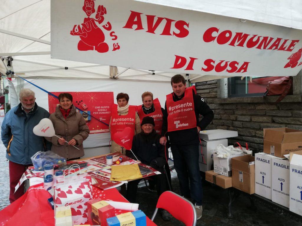 Susa, l'AVIS contribuisce alla campagna Telethon: un successo!