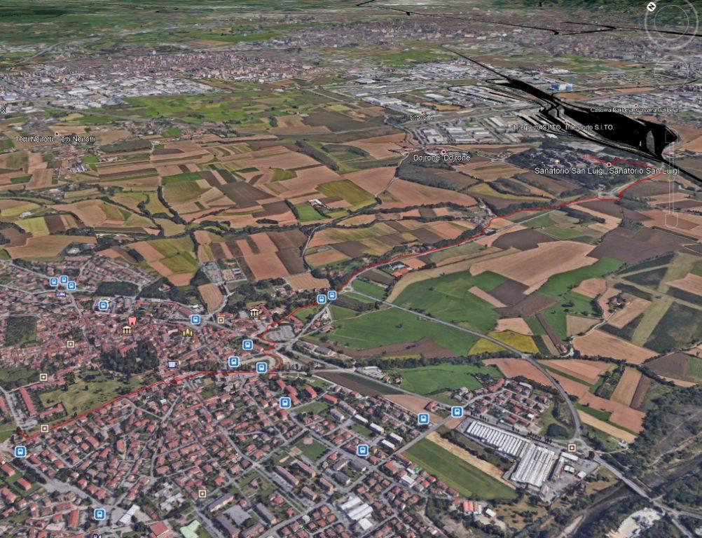Sangano, una nuova pista ciclabile verso l'ospedale San Luigi