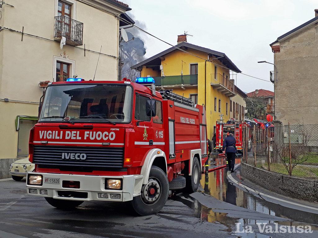 Estinto l'incendio in una casa di Villar Dora