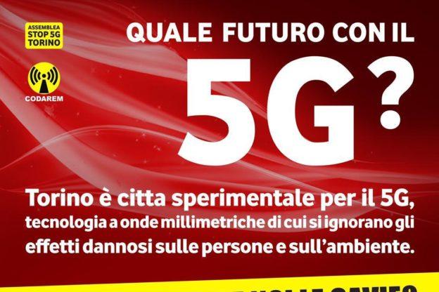 A Torino una manifestazione contro la sperimentazione della tecnologia 5G