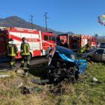 Scontro frontale fra due auto in bassa Val di Susa: tre feriti