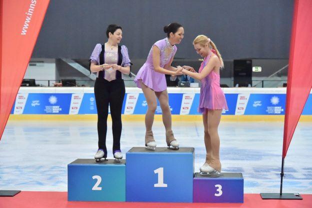 Nicoletta Forte (Bardonecchia) medaglia d'argento di pattinaggio su ghiaccio a Innsbruck